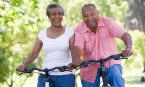 African American Couple on Bikes (2)