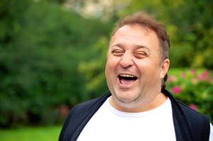 Man laughing!